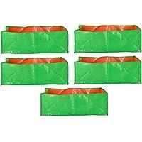 "SAPRETAILER Terrace Gardening Leafy Vegetable Green Grow Bag (24"" X 12"" X 9"") - (Pack of 5)"