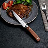 PAUDIN Steakmesser Set 4-teilig, hochwertige scharfe Messer Wellenschliff Steakmesser aus deutschem rostfreiem Edelstahl mit Ergonomischem Griff - 7