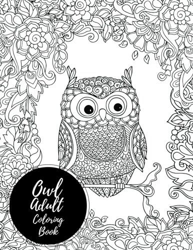 Owl Adult Colouring Book