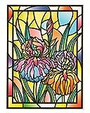 dpr. Fensterbild Tiffany Optik Lilie Blumen Zart beglimmert Fensterdekoration Folie Fenstersticker Aufkleber