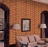 Concus-T Auto-Adhésif Le Papier Peint Brique Modèle avec de la Colle Fond d'écran Décoratif pour la Maison Café Bar Salon Chambre Mur de Télévision 45CM x 500CM