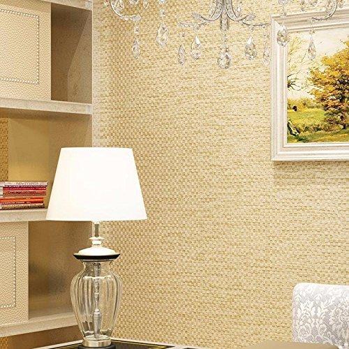 JSLCR Chinesische Rattan Leinwandbindung Leinen Streifen Muster Tapete einfach moderne Wohn-Schlafraum Vliestapete,Beige