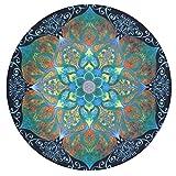 Kanpola Runde Strandtuch Mandala Handwerk Yoga Matten Wall Hanging Art Decor Tapestries Tischdecke Picknick Strandtuch (B, 145 * 145cm)