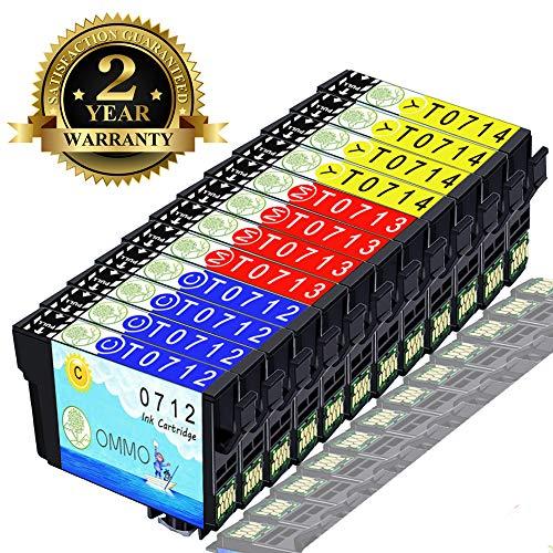 Druckerpatrone T0711 T0712 T0713 T0714 Kompatibel mit Epson Stylus SX218 SX415 SX200 SX515W DX4050 DX8450 DX7450 DX8400 SX210 SX100 SX400 DX4400 (4 Cyan,4 Magenta,4 Gelb)-Colorfish