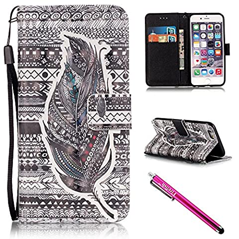 iPhone 5S Case, iPhone 5 Wallet Case, Firefish [Kickstand] [Shock Absorbent] Double Protective Case Flip Folio Slim Magnetic Cover with Wrist Strap for Apple iPhone