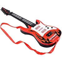B&B E-Mart Rockband Music and Lights Guitar Toy, Big Red for Kids (Red)