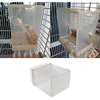 Keer123 Mangeoire automatique pour oiseaux - Distributeur de graines - Pour perruches, calopsittes, conures, aras…