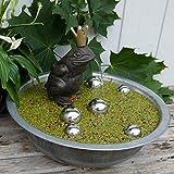Gartenzaubereien Miniteich komplett mit Wasserspeier Froschkönig