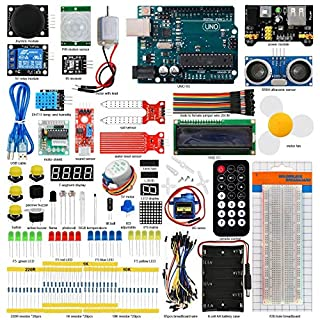 Seesii UNO R3 Super Starter Kit for Arduino with 140 Pieces Basic Practical Components Free PDF Detailed Tutorial 29 Lessons(UNO R3 Starter Kit for Arduino)