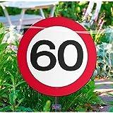 Folat Creative Gartenschild für Geburtstagsparty, Verkehrsschild, 60. Geburt