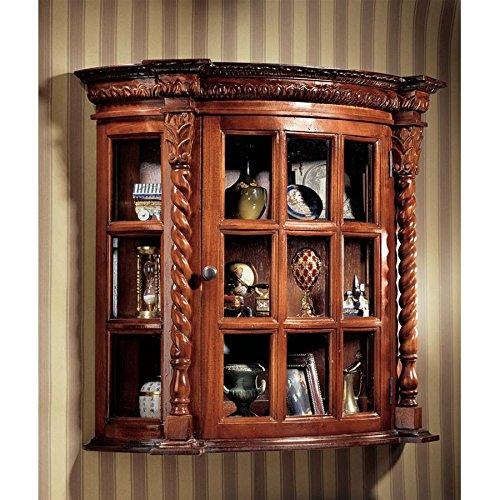 Vitrine - Cardington Platz Manor - Wand befestigten Curio Cabinet (Curio Home Glas Cabinet Decor)