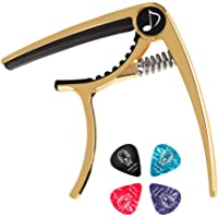 Donner DC-2 Guitar Capo for Acoustic and Electric Guitar, Golden