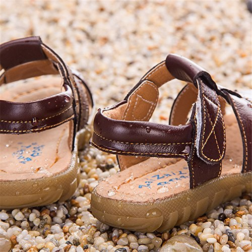 Sandales Bout Ouvert Garçon, YUANMY Chaussure de Marche pour Bébé Enfant Garçon Quatre Couleurs Brun