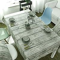 Candora® Cotone Tovaglia, Vintage Simulazione legno stampato Tea Tovaglia tessuto di cotone fodere per tavolo (Casa Occasional Table Set)