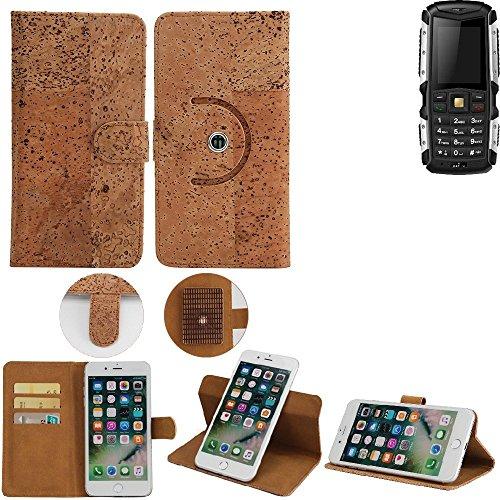 K-S-Trade Schutz Hülle für Jiayu F2 Handyhülle Kork Handy Tasche Korkhülle Schutzhülle Handytasche Wallet Case Walletcase Flip Cover Smartphone