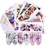 Gwolf Nagelstickers Zelfklevend, 40 vellen Nail Art-stickers, Watermerk-stickerset, Zelfklevende Nail Art-decoratie Nageltips