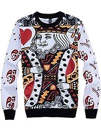 Demarkt Hommes Imprimé 3D Poker Image Sweat Sweat-shirts Loisirs Manches Longues Col Rond sans Capuche M / L/ XL/ XXL