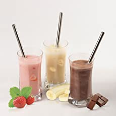 Tomtopp 4pcs Metal Stainless Steel Drinking Straws + 1pc Cleaner Brushes