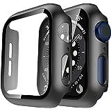 TAURI 2 Pack Funda Apple Watch 42mm Serie 6/5/4/SE Protector de Pantalla iWatch Case Rígido para PC Funda Protección Completo