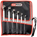 KS Tools 517.0310 Pack de 6 piezas con llaves articuladas dobles, en bolsa enrollable, gran...