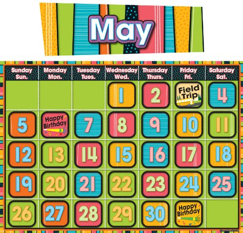 stylin-stripes-calendar-bulletin-board-set