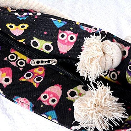 Compras En Línea Para La Venta Minetom Donna Borsa Da Spiaggia Mare Borse A Con Stampa A Spalla Bags Nero Owl Para La Línea Barata Visita Salida tQTkDk