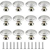 12 stuks keukenknoppen, schuiflade handgrepen, deurknop roestvrij stalen knop voor kast voor kast, ladenknop, deurknoppen, me