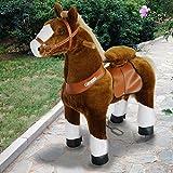 Mit Ton und Musik PonyCycle Original Fahrt auf Pony Nicht Batterie betrieben Braun und Weißer Huf Medium