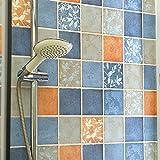 Möbelsticker FEIFEI Wandaufkleber Dicker Selbstklebende wasserdichte ölbeständige Mosaik-Tapete Toiletten-Küche Fliesen-Aufkleber (Farbe mehrfache Wahl) (Farbe : 01, größe : 2*1.2M)