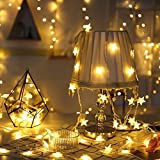 Climberty Star Clip Lights Star Photo Pictures Clip String Lights for Bedroom Wedding Home Decor Hanging Cards Notes Artwork (Warm White, 80 LED Lights)