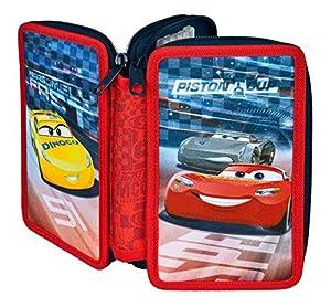 Unbekannt scooli caad0433sí Estuche Doble con STABILO Marca Relleno, Disney Pixar Cars
