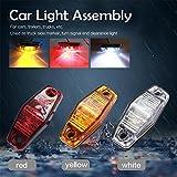 2Pcs Seitenmarkierungs Seitenmarkierungsleuchte Neu Bernstein Wasserdichtes 12V/24V LED Leuchte Lampe für Auto LKW Anhänger SUV Van LED Rot/Gelb/Weiß
