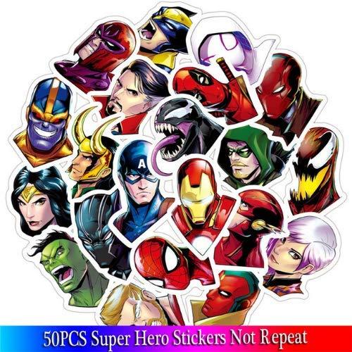 Superheld Aufkleber Marvel Aufkleber Filme Charakter Aufkleber Für Skateboard Motorrad Gepäck Laptop Cartoon Aufkleber Sets 50 Stücke