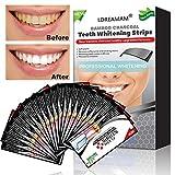 White Stripes,Bleaching Stripes,Zahnaufhellung,Zahnweiß Streifen,Activated Charcoal Teeth Whitening,Natürliches Aktivkohle Zahnaufhellung Streifen,10-teilig (1 x 2 Stück)