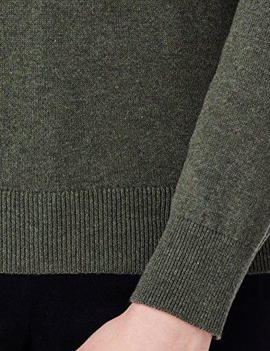 MERAKI Baumwoll-Pullover Damen mit Rundhals Grün (Khaki)