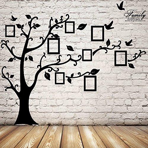 Preisvergleich Produktbild Inovey 2,5 Mt Abnehmbare Speicher Baum Bilderrahmen Tapete Foto Wandaufkleber Dekor Vogel Zimmer Wand Schwarz