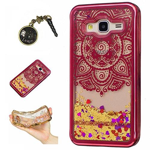 Preisvergleich Produktbild Laoke für Samsung Galaxy J3 (2016) J310 Hülle Schutzhülle Handy TPU Silikon Hülle Case Cover Durchsichtig Gel Tasche Bumper ( + Stöpsel Staubschutz) (2)