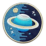 "Iron on/Sew on/Embroidered Patch ""Space Explorer"" (Round)"