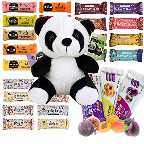 Vegane Snackriegel Probierpaket Panda - 12 Riegel Superfood Mix Fruits