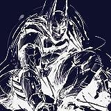 Batman Arkham Leinwanddruck, Polyester, Mehrfarbig, 40 x 40 cm