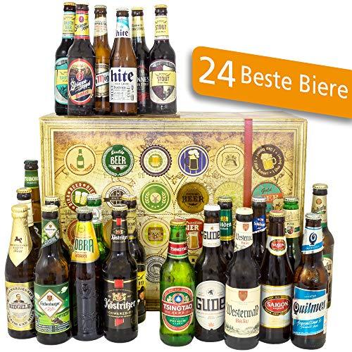 24x Biere Deutschland und Welt | Bier Geschenkset | Männer Geschenk Bier Pilsner Set