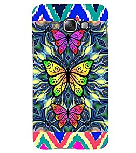 Printvisa Tripple Butterfly Pattern Back Case Cover for Samsung Galaxy Grand 3 G720::Samsung Galaxy Grand Max G720