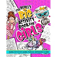 Activity Book For Girls; Mazes, Dot to Dot, Games, Puzzles Word Search And More: Puzzle Book of activities for kids: 100+ brain teasers for children ... fairies, mermaid and butterfly themed pages