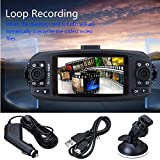 Doppelobjektiv Auto DVR,HD 1080p Dual Lens Auto DVR Video Dash Cam Recorder Kamera G-sensor Nachtsicht Unterstützt High-Definition-Fotografie 1920 * 720 (2CH-Aufnahme) 1280 * 720 (1CH-Aufnahme) (Schwarz)