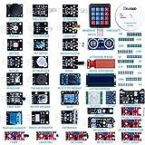 Elegoo Actualizado 37 en 1 Kit de Módulos de Sensores con Tutorial para Arduino UNO R3 MEGA 2560 Nano Arduino Sensores Kit Raspberry Sensores