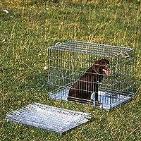 Wolder J01JA0005 Jaula De Transporte para Perros, Plateado, Talla Única