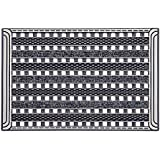 Carfashion 257740 Outdoor Doormat Pur Gridc Lean with Highly Effective Textile Insert And Scraper in rigid Disc Grid Grate Structure