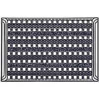 CarFashion 257739 PUR GridClean – Fussmatte   Türmatte   Fußabtreter   Schmutzfangmatte   Sauberlaufmatte   Eingangsmatte   für Innen und Aussen   Anthrazit-Metallic Oberfläche   Scraper-Noppen mit Textilbelag   Gitterrost  Größe ca. 59 x 39 cm