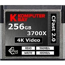 Komputerbay profesionales 3700X 256GB CFast 2.0tarjeta (hasta 560MB/s y de lectura de hasta 495MB/s de escritura)