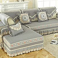 Coussin de tissu moderne canapé quatre saisons anti-dérapant coussin jardin ensembles de canapé salon ( Couleur : Gris , taille : 60*150cm )
